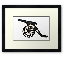 cannon isolated Framed Print