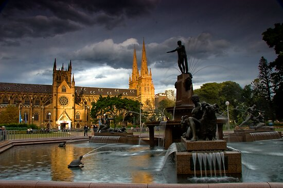 St. Mary Cathedral and The Archibald by MiImages