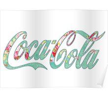 Coca Cola (green floral) Poster