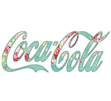 Coca Cola (green floral) Photographic Print