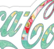 Coca Cola (green floral) Sticker