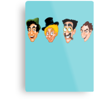 The Marx Brothers Faces  Metal Print