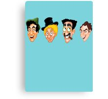 The Marx Brothers Faces  Canvas Print
