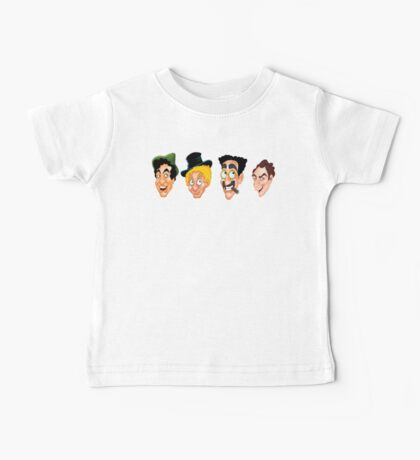 The Marx Brothers Faces  Baby Tee