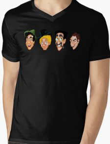 The Marx Brothers Faces  Mens V-Neck T-Shirt