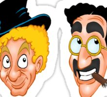 The Marx Brothers Faces  Sticker