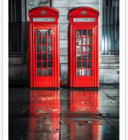 London Telephone Boxes Sticker