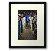 Walking in Mesta village - Chios island Framed Print