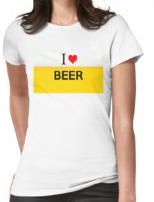 i love beer Womens Fitted T-Shirt