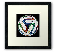 2014 FIFA World Cup Brazil match ball big enough for duvet Framed Print