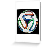 2014 FIFA World Cup Brazil match ball big enough for duvet Greeting Card