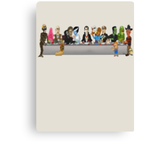 Monsters Last Supper  Canvas Print