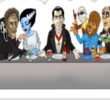 Monsters Last Supper  Sticker