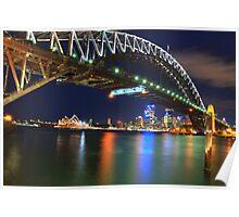 Icons - Moods Of A City #23 - The HDR Series , Sydney Harbour , Australia Poster