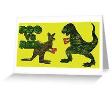 Roo vs. Rex Greeting Card