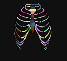 Thoracic Rainbow. Womens Fitted T-Shirt