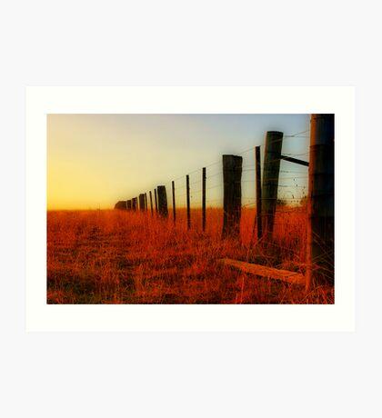 """The Boundary Line "" Art Print"