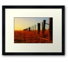 """The Boundary Line "" Framed Print"
