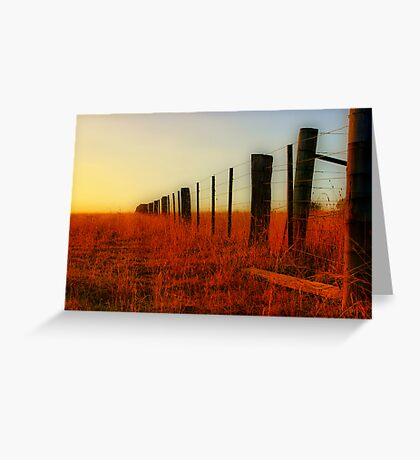 """The Boundary Line "" Greeting Card"
