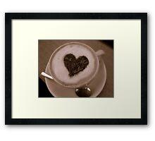 Caffeine Lover Framed Print