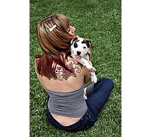 Pit Bull T-Bone Lucky Puppy Photographic Print