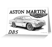 ASTON MARTIN DB5 007 Greeting Card