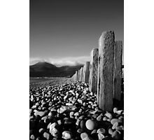 Murlough Beach View Mono Photographic Print