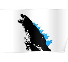 Godzilla Black and Blue Poster
