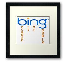 bing-google Framed Print