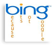 bing-google Canvas Print