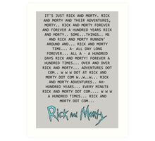 Rick and Morty Forever Art Print