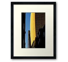 Narrow street and skyscrapers Framed Print