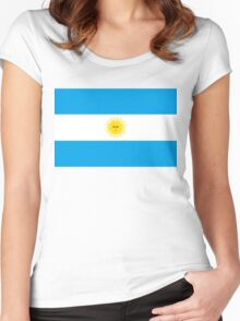 flag of argentina Women's Fitted Scoop T-Shirt