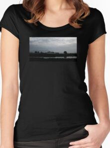 Scrabo In The Mist Women's Fitted Scoop T-Shirt
