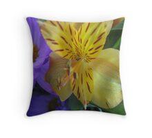 Fabulous Flowers Throw Pillow