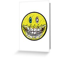 Zombie Smiley Greeting Card