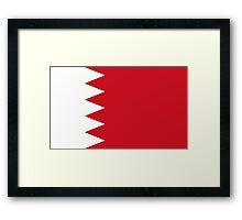 flag of bahrain Framed Print