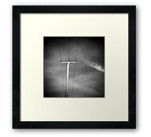 Lone Pylon Framed Print