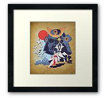 Samurai Wars Framed Print