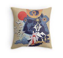 Samurai Wars Throw Pillow