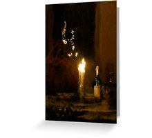 Wine and Candles Greeting Card