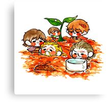 Tinies-Gardening Canvas Print