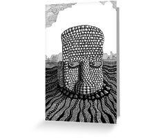 214 - STONE HEAD - INK - 2007 Greeting Card