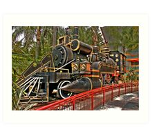 The Jules Verne Train Art Print