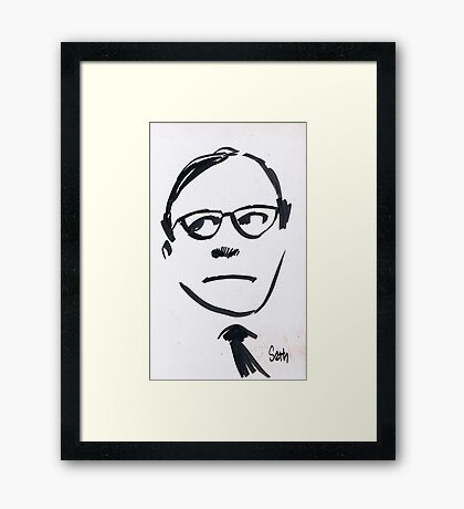 Jack Benny...Wellll! Framed Print