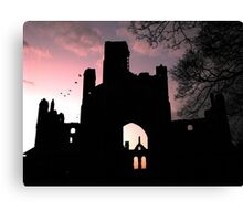 Kirkstall Abbey Sunset Canvas Print