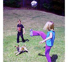 soccer dog Photographic Print