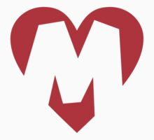 I love M - Heart M - Heart with letter M Kids Clothes