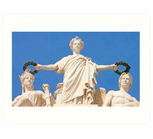Estatuária Arco da Rua Augusta. Glória, Valor e Génio. Art Print