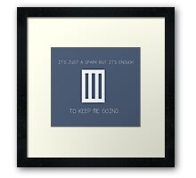 Paramore last hope Its just a spark Framed Print